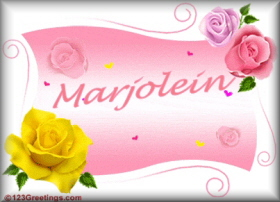 Name graphics Marjolein