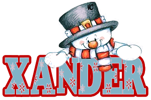 Xander name graphics