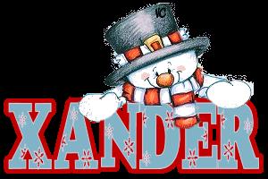 Xander name graphics