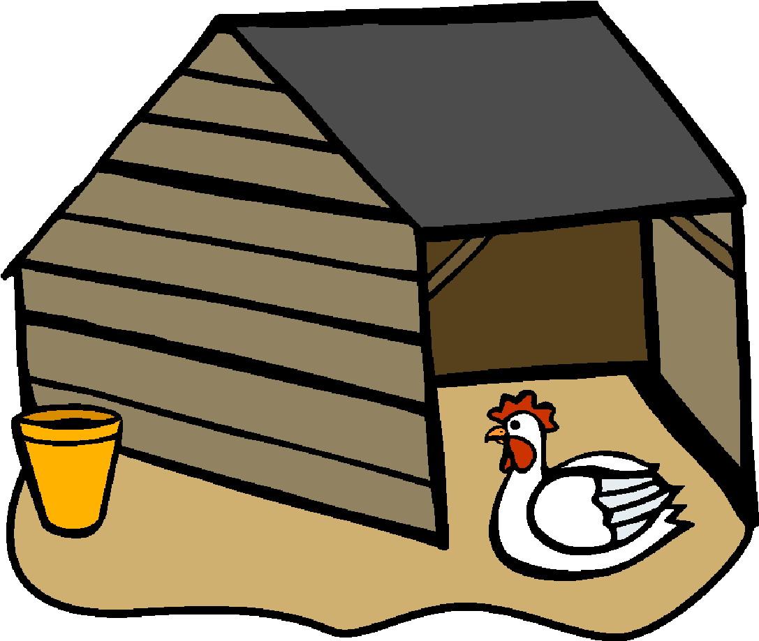 free clipart chicken coop - photo #6