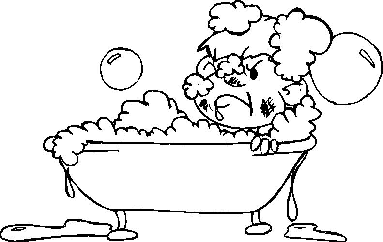 coloring pages of a bath - photo#12