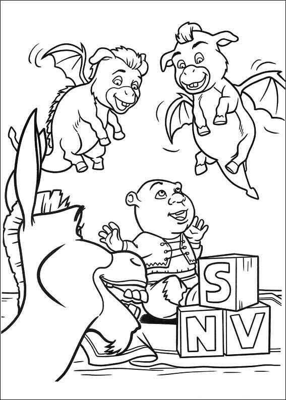 ogre baby shrek coloring pages - photo #18