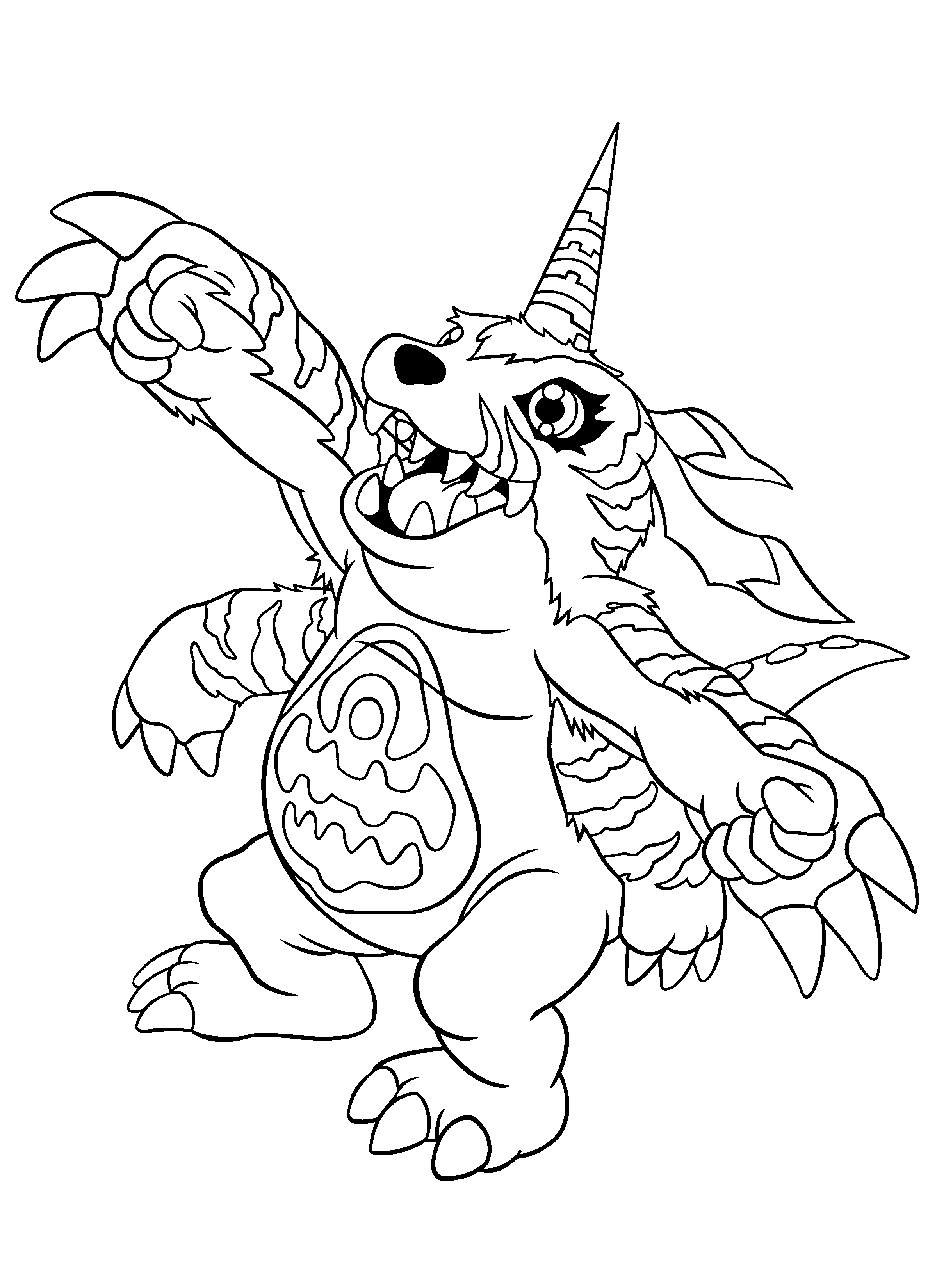 Omnimon Coloring Pages Coloring Pages
