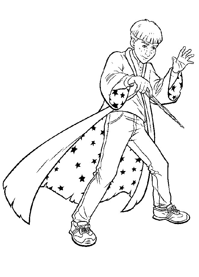 Harry Potter Poster Coloring Pages