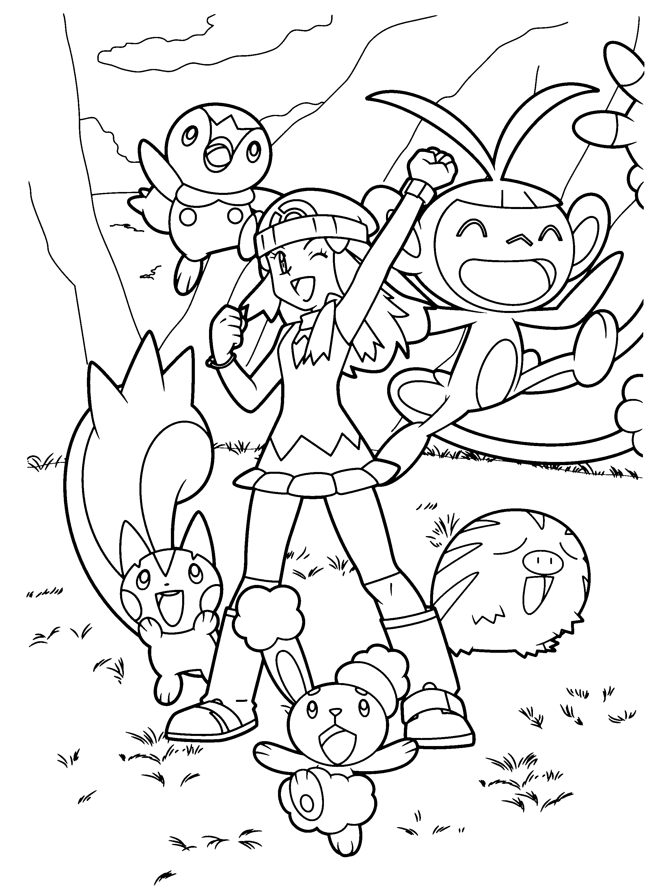 Coloring Page Pokemon Diamond Pearl Coloring Pages 72