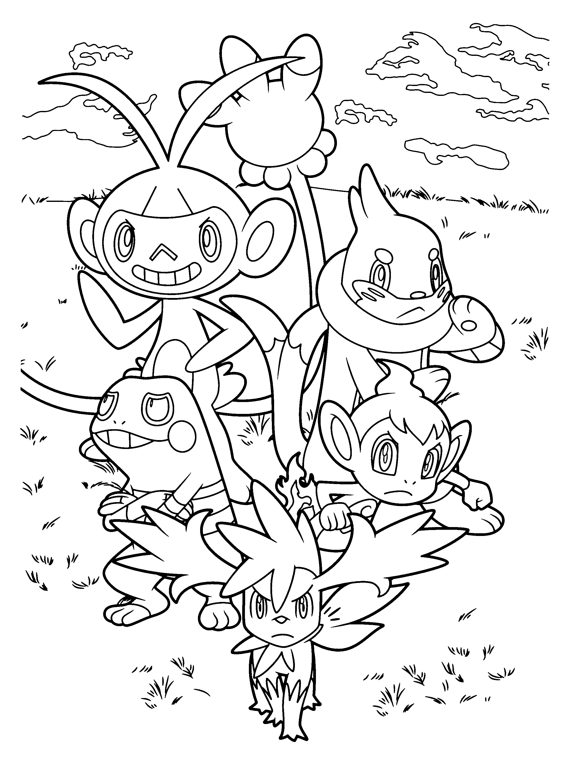 pakemon diamond pearl coloring pages - photo#12