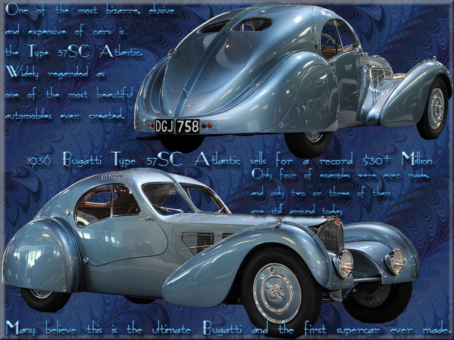 Bugatti 57sc atlantic 1936 wallpapers