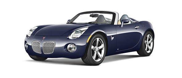 Blue Pontiac Solstice 2006