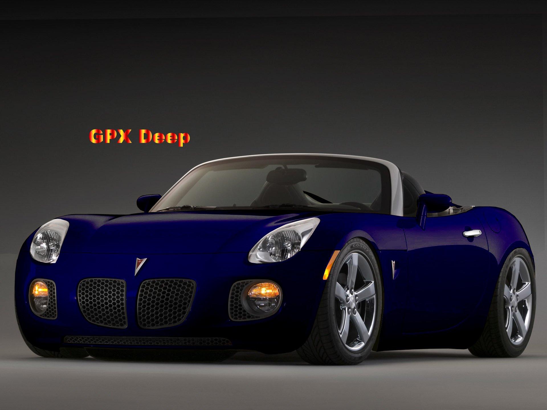 Deep Blue Pontiac Solstice 2006
