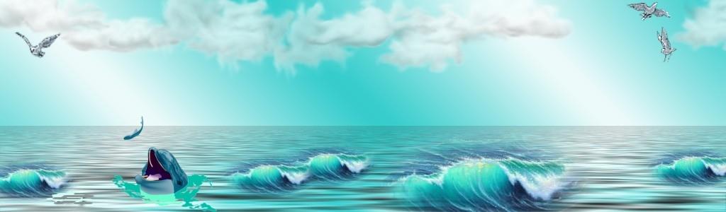 Achtergrond zee met dolfijn animaatjes nl wallpaper for Homemade wallpaper