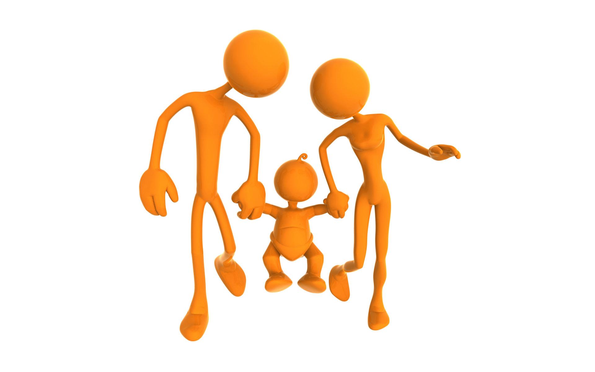 Orange puppets 3d