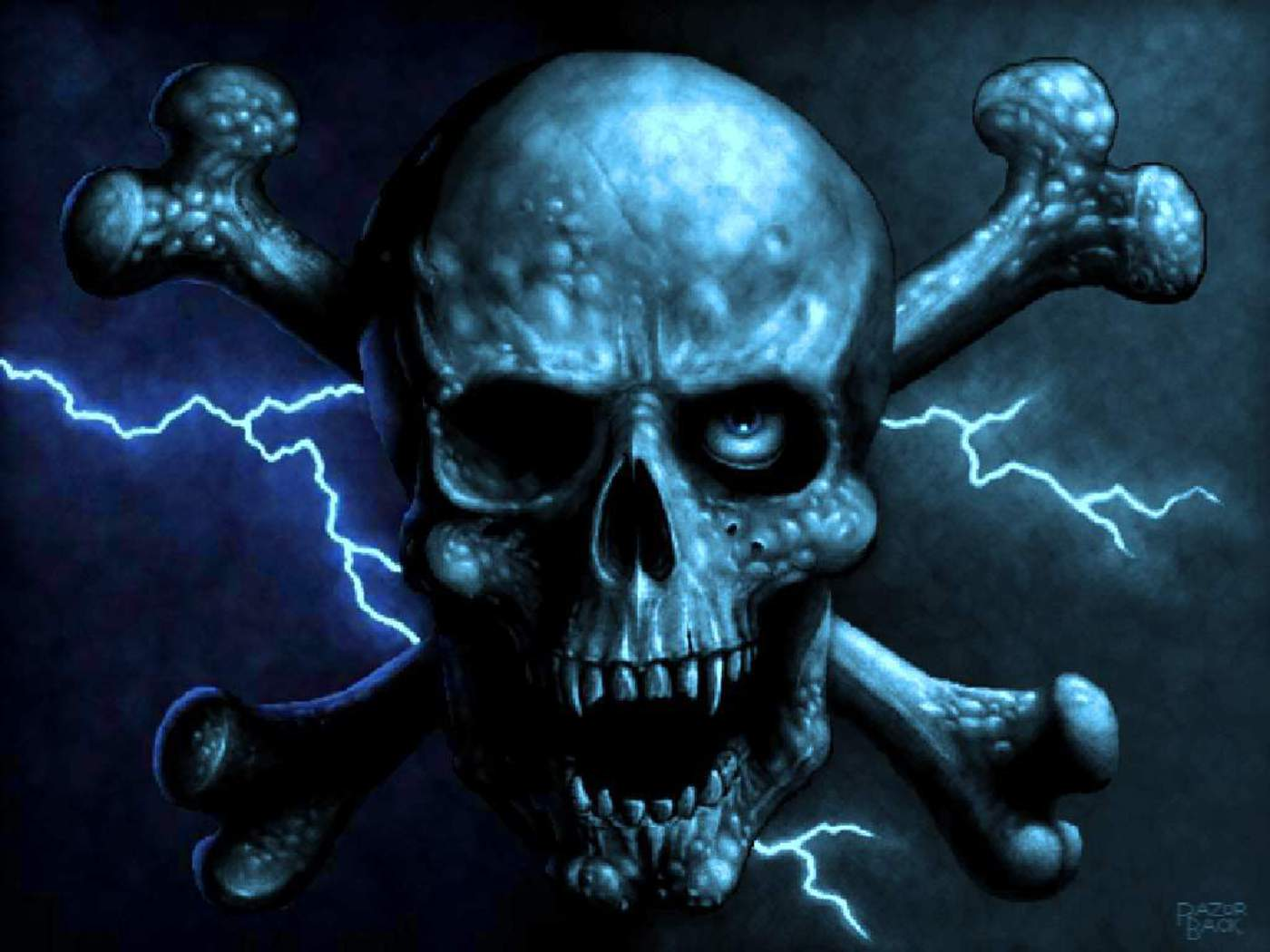 blue wallpaper skull - photo #31